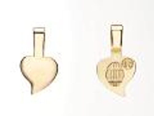 25 Small Aanraku 18K Gold plated Heart Bails