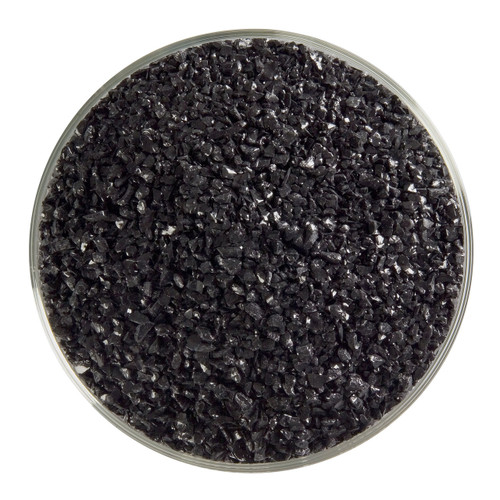 Bullseye Glass Black Opal, Frit, Medium, 5 oz jar 000100-0002-F-OZ05