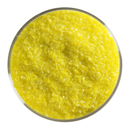 Bullseye Glass Canary Yellow Opal, Frit, Medium, 5 oz jar 000120-0002-F-OZ05