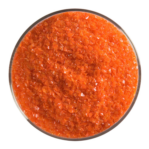 Bullseye Glass Orange Opal, Frit, Medium, 5 oz jar 000125-0002-F-OZ05