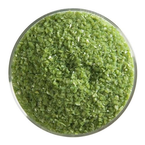 Bullseye Glass Olive Green Opal, Frit, Medium, 5 oz jar 000212-0002-F-OZ05