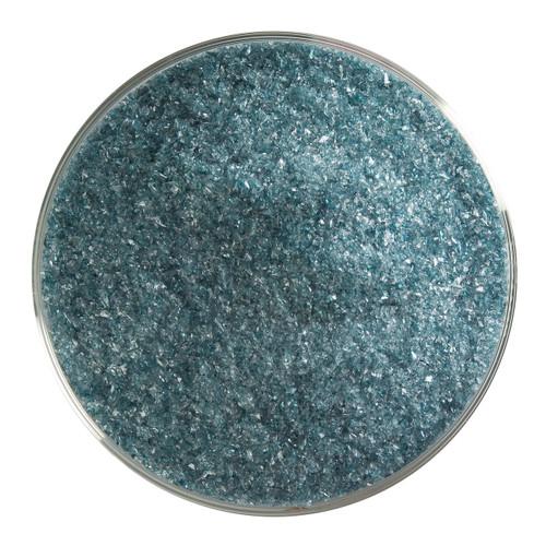 Bullseye Glass Aquamarine Blue Transparent, Frit, Fine, 5 oz jar 001108-0001-F-OZ05