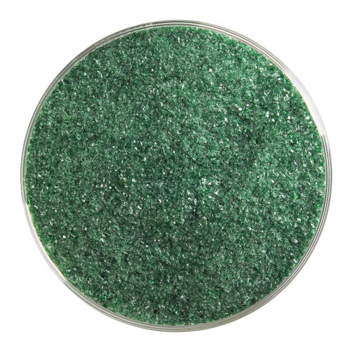 Bullseye Glass Aventurine Green Transparent, Frit, Fine, 5 oz jar 001112-0001-F-OZ05