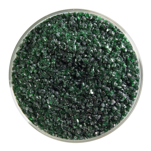 Bullseye Glass Aventurine Green Transparent, Frit, Medium, 5 oz jar 001112-0002-F-OZ05