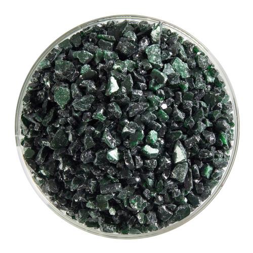 Bullseye Glass Aventurine Green Transparent, Frit, Coarse, 5 oz jar 001112-0003-F-OZ05
