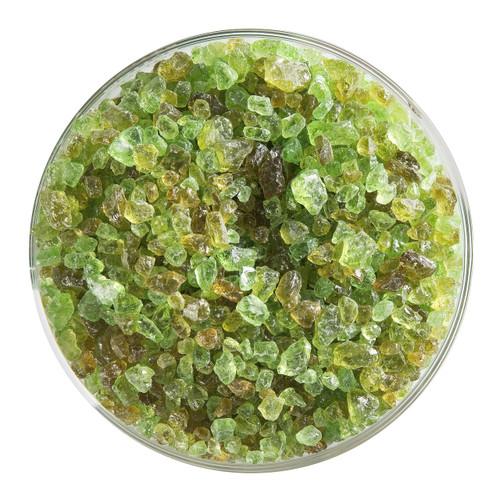 Bullseye Glass Chartreuse Transparent, Frit, Coarse, 5 oz jar 001126-0003-F-OZ05