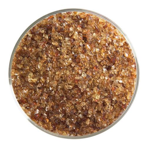 Bullseye Glass Carnelian Transparent, Frit, Medium, 5 oz jar 001321-0002-F-OZ05