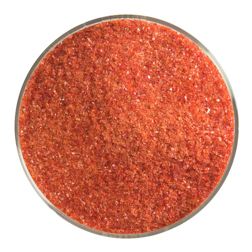 Bullseye Glass Garnet Red Transparent, Frit, Fine, 5 oz jar 001322-0001-F-OZ05