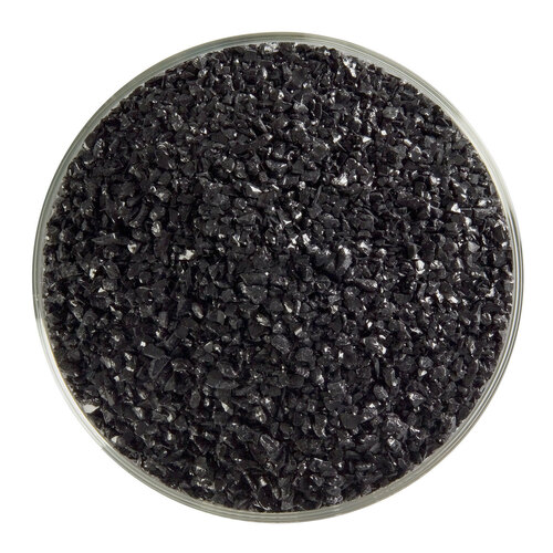 Bullseye Glass Black Opal, Frit, Medium, 1 lb jar 000100-0002-F-P001