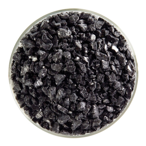 Bullseye Glass Black Opal, Frit, Coarse, 1 lb jar 000100-0003-F-P001
