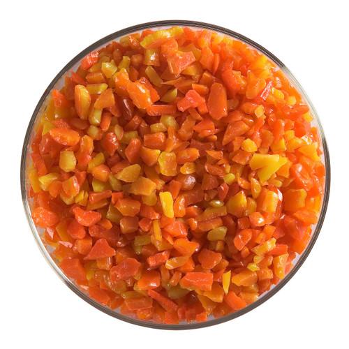 Bullseye Glass Orange Opal, Frit, Coarse, 1 lb jar 000125-0003-F-P001