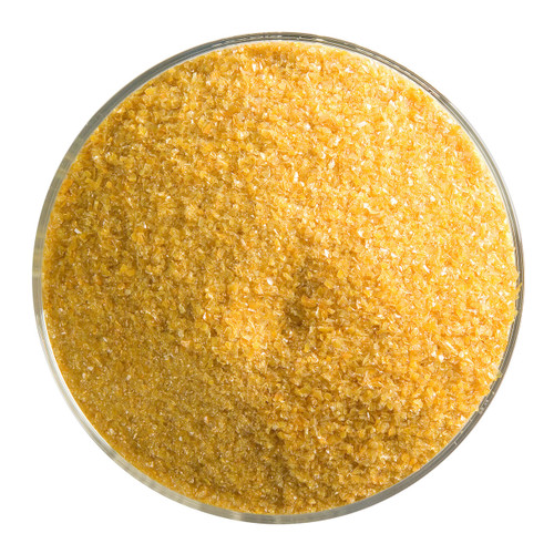 Bullseye Glass Butterscotch Opal, Frit, Fine, 1 lb jar 000337-0001-F-P001