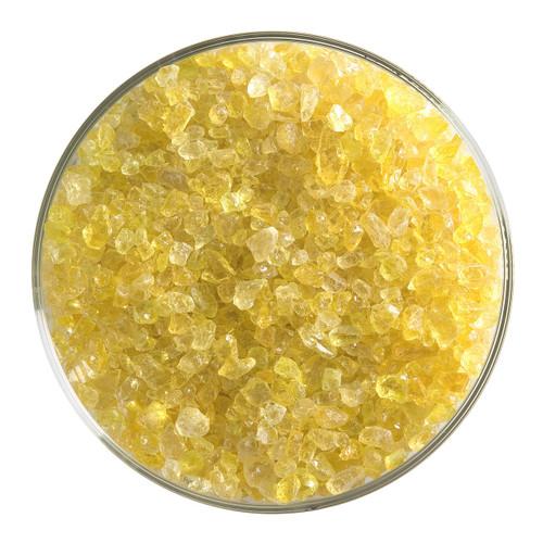 Bullseye Glass Yellow Transparent, Frit, Coarse, 1 lb jar 001120-0003-F-P001