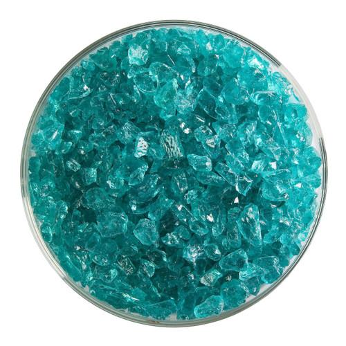 Bullseye Glass Light Aquamarine Blue Transparent, Frit, Coarse, 1 lb jar 001408-0003-F-P001