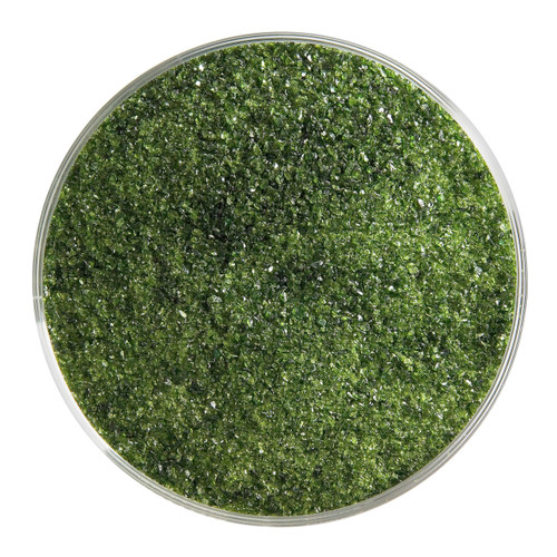 Bullseye Glass Light Aventurine Green Transparent, Frit, Fine, 1 lb jar 001412-0001-F-P001