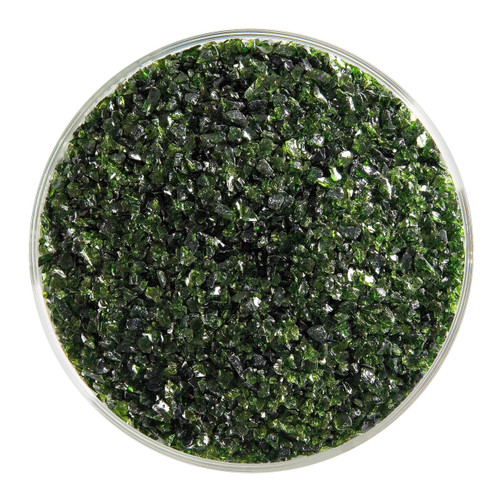 Bullseye Glass Light Aventurine Green Transparent, Frit, Medium, 1 lb jar 001412-0002-F-P001