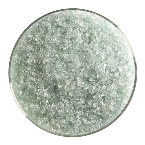 Bullseye Glass Spruce Green Transparent Tint, Frit, Medium, 1 lb jar 001841-0002-F-P001