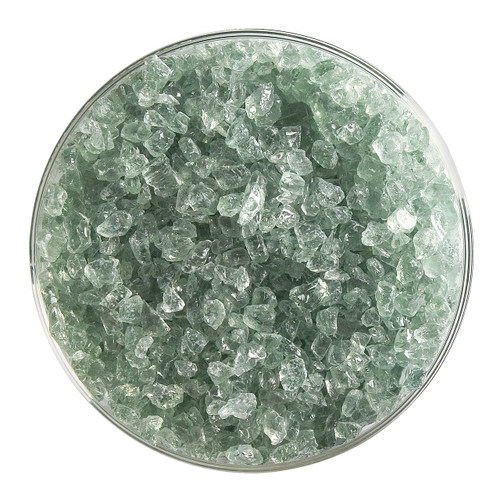 Bullseye Glass Spruce Green Transparent Tint, Frit, Coarse, 1 lb jar 001841-0003-F-P001