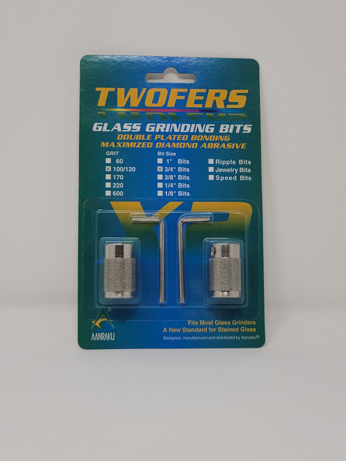 "100/120 grit, 3/4"" Twofers Glass Grinding Bits"