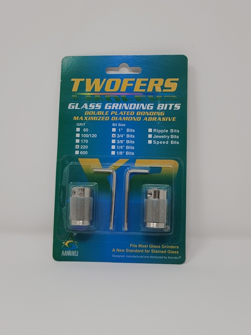 "3/4"", 200 grit Twofers glass grinding bits"