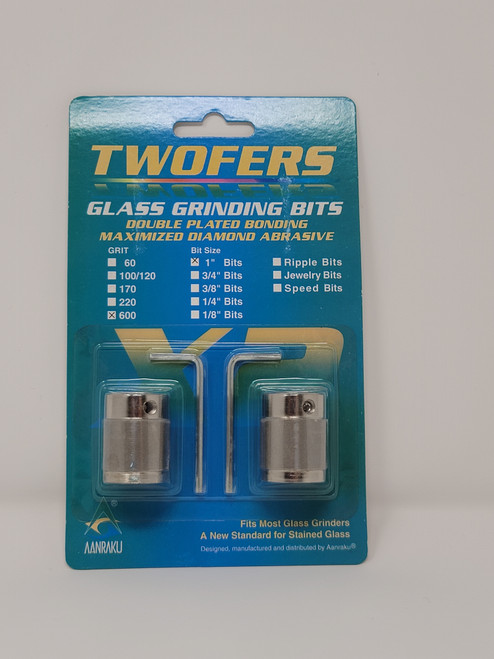 "1"", 600 grit Twofers glass grinding bits"