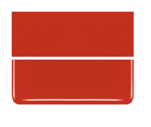 Bullseye Glass Tomato Red, Dbl-rolled 000024-0030-F-1010