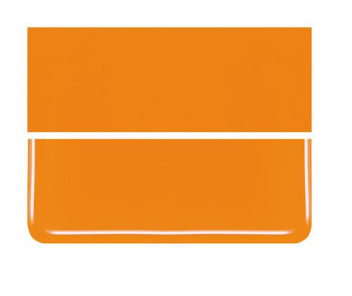 Bullseye Glass Tangerine Orange, Dbl-rolled 000025-0030-F-1010