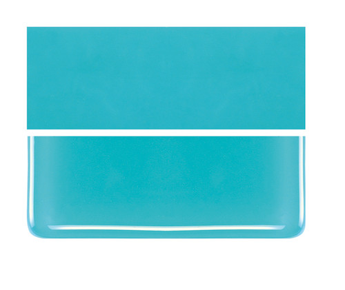 Bullseye Glass Turquoise Blue, Dbl-rolled 000116-0030-F-1010