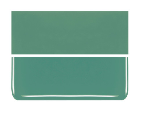 Bullseye Glass Mineral Green, Dbl-rolled 000117-0030-F-1010