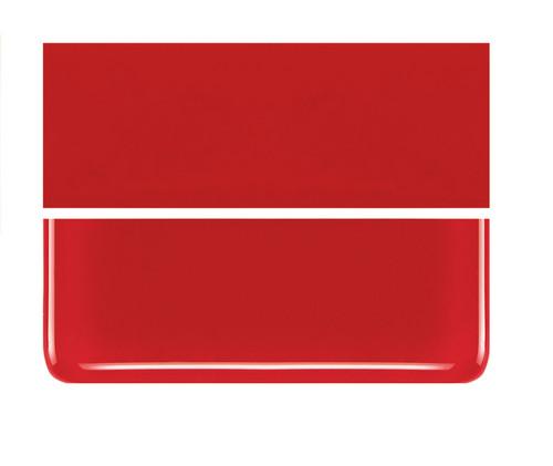 Bullseye Glass Red, Dbl-rolled 000124-0030-F-1010