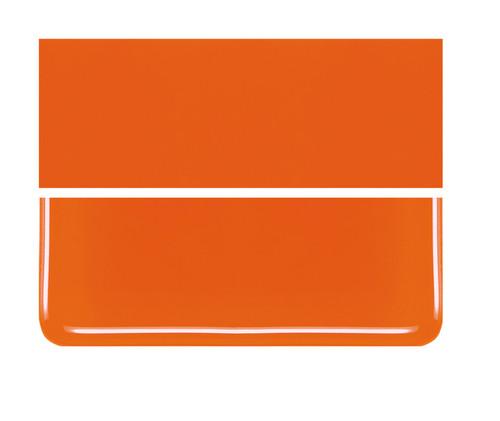 Bullseye Glass Orange, Dbl-rolled 000125-0030-F-1010