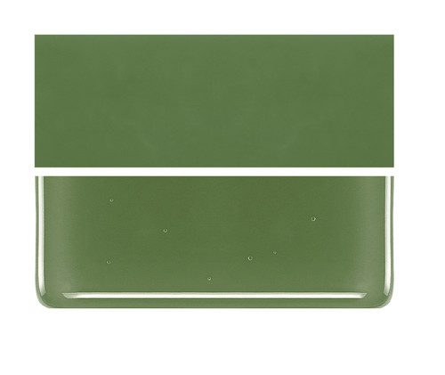 Bullseye Glass Olive Green, Dbl-rolled 000212-0030-F-1010
