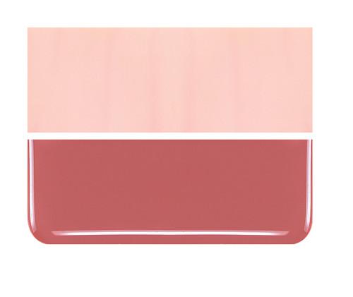 Bullseye Glass Salmon Pink, Dbl-rolled 000305-0030-F-1010