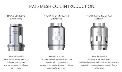 TFV16 Coils