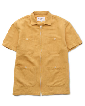 Corridor Yellow Linen Matty Pool Jacket