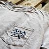 Stay Classy Hammer Lane Trucker Pocket Tee Shirt Close Up