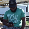 Eat Sleep Drive Hammer Lane Shirt On Model