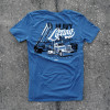 Heavy Lifting Hammer Lane Trucker Shirt On Pavement