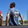 Heavy Lifting Hammer Lane Trucker Shirt On Model 2