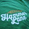Against The Grain Hammer Lane Trucker T-Shirt Logo Closeup