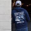 Vintage Hammer Lane Zip Up Hoodie On Model Outside