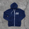 Vintage Hammer Lane Zip Up Hoodie Front Pavement