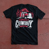 Asphalt Cowboy Hammer Lane Trucker T-Shirt On Pavement