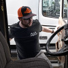 Snapback Neon Orange Hammerlane Trucker Hat On Model 2