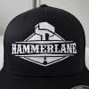 Original Fitted Mesh Hammerlane Hat Front Close Up - Black