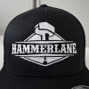 Original Fitted Mesh Hammerlane Hat Front Close Up - Black