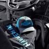 Hammer Lane Vertical Blue Logo T-Shirt With Blue Neon Hat