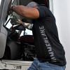 Hammer Lane Vertical Grey Logo T-Shirt On Model 2
