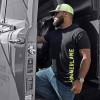 Hammer Lane Vertical Green Logo T-Shirt On Model