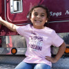 Trucker In Training Hammer Lane Toddler Tee Pink On Girl